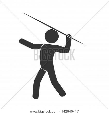 lance man guy male sport activity move vector illustration isolated