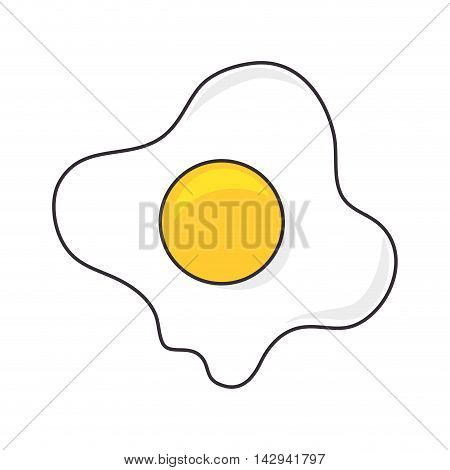 egg fried food breakfast natural cook nutrition protein vector illustration isolated