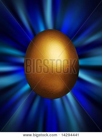 Golden Egg In A Blue Vortex