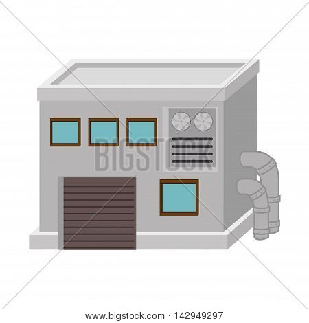 factory industry industrial mechanics energy building vector illustration isolated