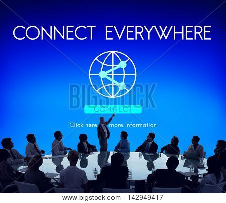 Connect Everywhere Globalization Technology Concept