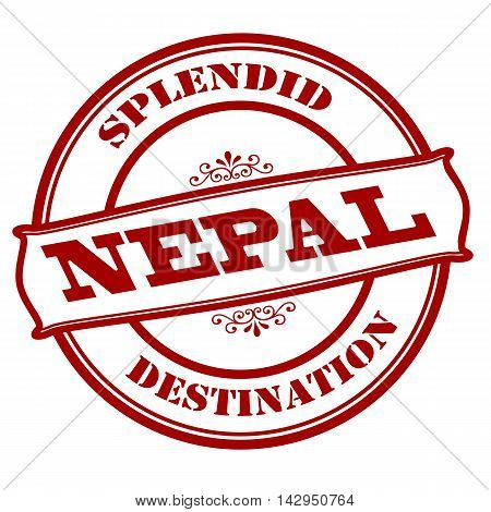 Rubber stamp with text splendid destination Nepal inside vector illustration