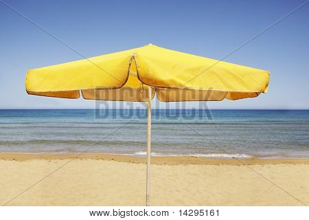 Umbrella On  A  Beach