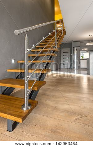 Simple Wooden Staircase Idea