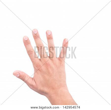 Hand Of A Man Showing Five Count