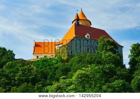 Veveri Castle is an originally ducal and royal castle some 12 kilometres northwest of Brno city centre Moravia Czech Republic on the River Svratka.