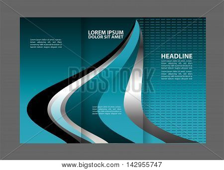 brochure design template arrows lines circles abstract