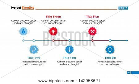 Timeline chart. Abstract element of presentation, graph, diagram. Concept for business templates, layout, reports. Can be used for topics like business strategy, planning, annual report