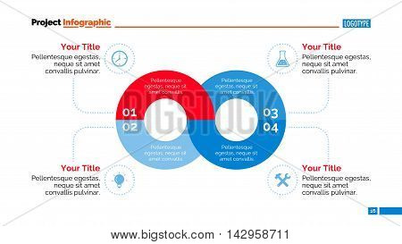 Infinity process diagram. Element of circle diagram, presentation, chart. Concept for infographics, presentation template, report. Can be used for topics like business strategy, analysis, management
