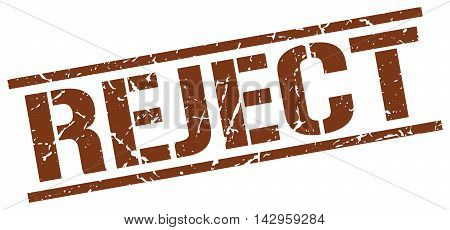 reject stamp. brown grunge square isolated sign