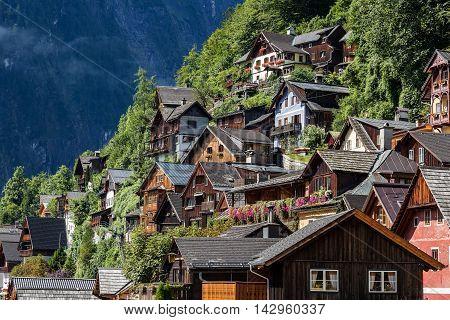 Hallstatt in Austria. UNESCO world nature and culture heritage site