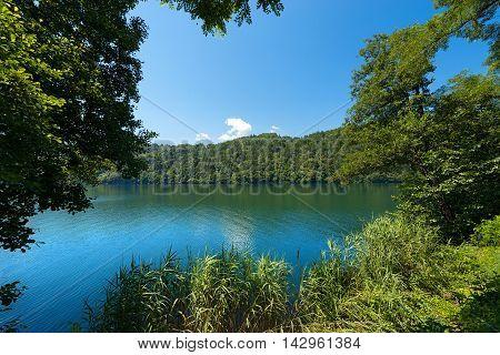 Lago di Levico (Levico Lake) in Valsugana Trentino Alto Adige Italy Europe