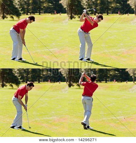 Golfer Swing Sequence