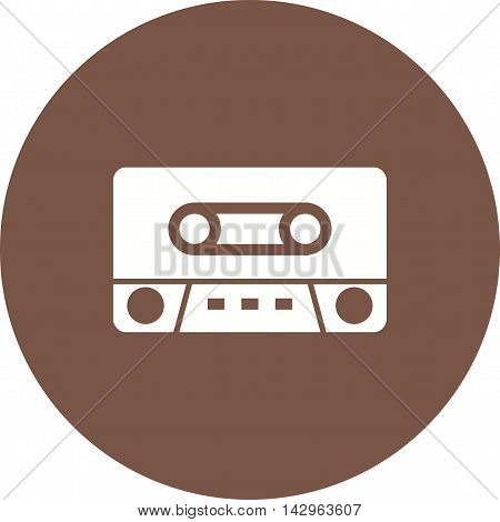 Tape, cassette, old icon vector image. Can also be used for music. Suitable for use on web apps, mobile apps and print media.