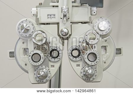 Closeup Of Medical Equipment In An Opticians Clinic