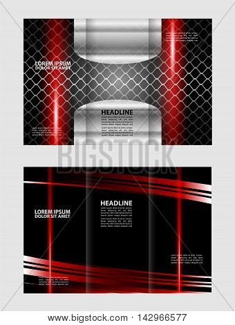 brochure design template colored stripes transparent abstract, vector