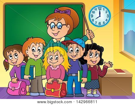 School class theme image 2 - eps10 vector illustration.
