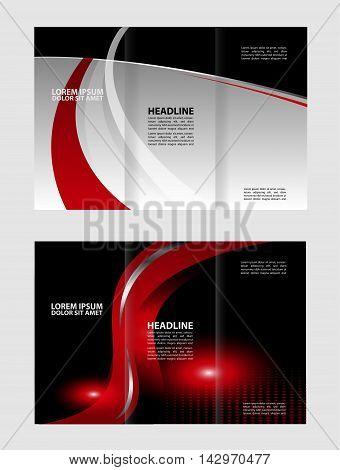 Tri-fold Brochure and Catalog Vector Design Template