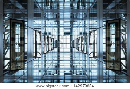 Architecture detail Modern Glass facade Building geometric  Steel stucture