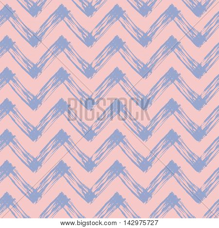 abstract background with zig zag lines, vector seamless pattern in rose and purple colors