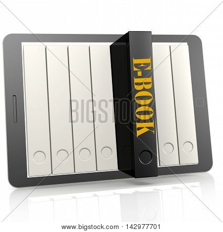 Book And Tablet Ebook Concept