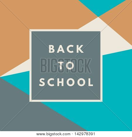 Back to school hipster background with memphis geometric texture. Minimal printable journaling card, label design for banner, poster, flyer.