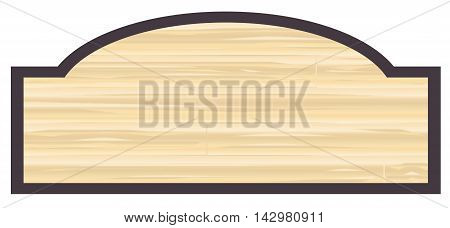 Blank store stylish wooden store sign over a white background