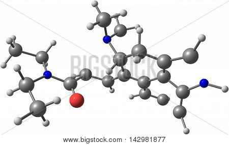 Lysergic acid diethylamide or LSD is a psychedelic drug known for its psychological effects. 3d illustration