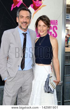 LOS ANGELES - AUG 15:  Todd Phillips, wife at the War Dogs