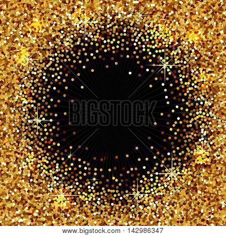 Background with golden sparkles,  beautifull vector illustration for your designs