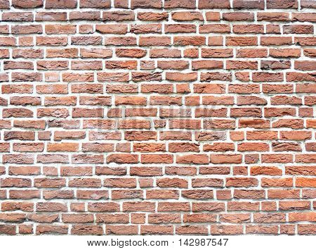 Brick wall background or texture with copy space. Full frame shot.