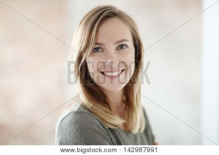Lovely woman with beautiful smile