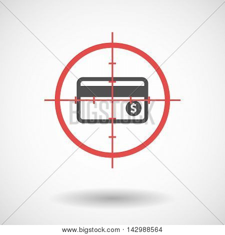 Isolated Line Art Crosshair Icon With  A Credit Card