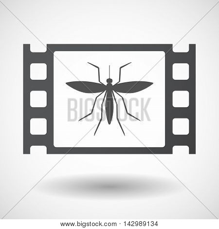 Isolated Celluloid Film Frame Icon With  A Mosquito