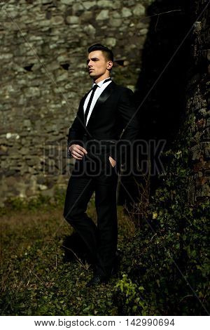 Young Man Poses Outdoor