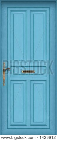Blue Door - Very High Definition Of The Entire Door