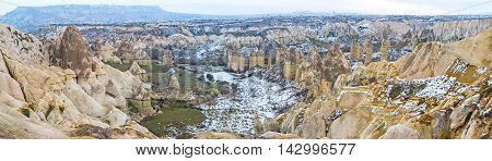 Cappadocia is the region with unique nature and amazing landscapes it's completely different in each season of year Turkey.