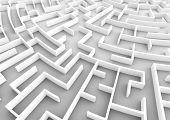 Huge maze. Concepts of problem solving, challenge, business strategy etc. 3D illustration poster