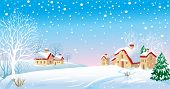 stock photo of winter scene  - Winter Landscape - JPG