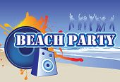pic of beach party  - illustration of a beach party invite or flyer - JPG