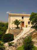 foto of old spanish trail  - Historical cottage on the spanish island Mallorca - JPG
