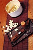 stock photo of home remedy  - Bowl of healthy white garlic  - JPG