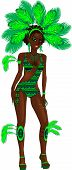 image of monokini  - Vector Illustration for carnival costume or las vegas showgirl - JPG