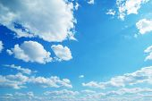 foto of blue sky  - Blue sky background with tiny clouds - JPG