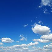 pic of blue sky  - blue sky background with tiny clouds - JPG
