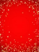 Abstract red christmas background in stars