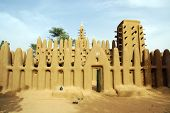 stock photo of dogon  - A mud mosque in a Dogon village - JPG