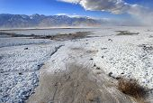 pic of sandstorms  - The dry bottom of a salt lake in Death Valley - JPG