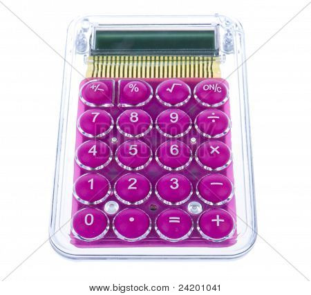 Trendy Purple Calculator Isolated On White