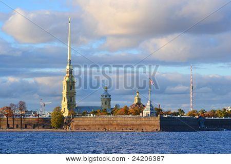 A fortaleza Pedro e Paulo, St. Petersburg.